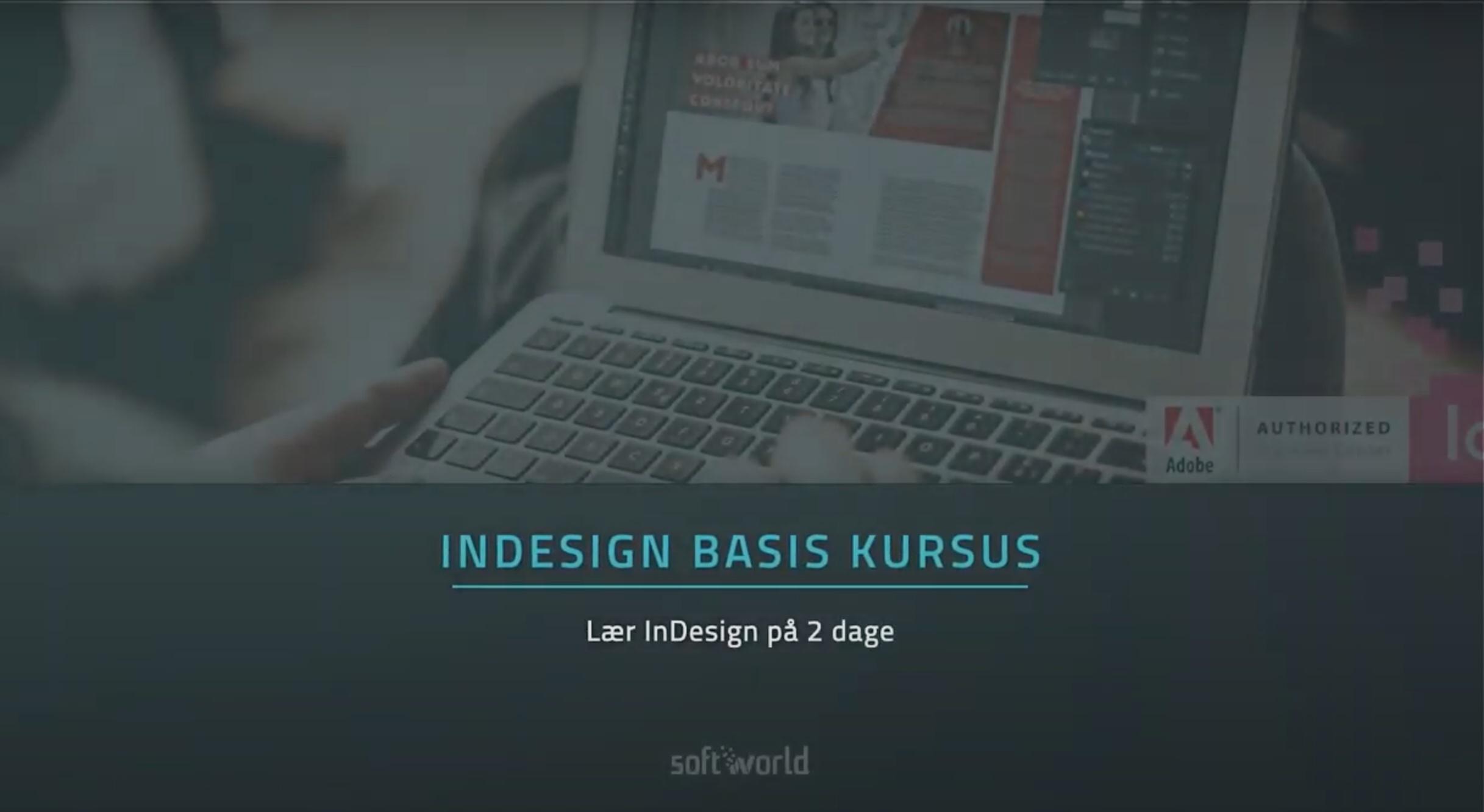 indesign kursus se video